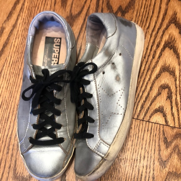 Golden Goose Shoes   Womens Silver
